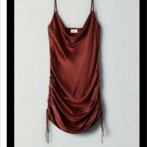 NWT Aritzia Wilfred Only Ruched Slip Dress Size M